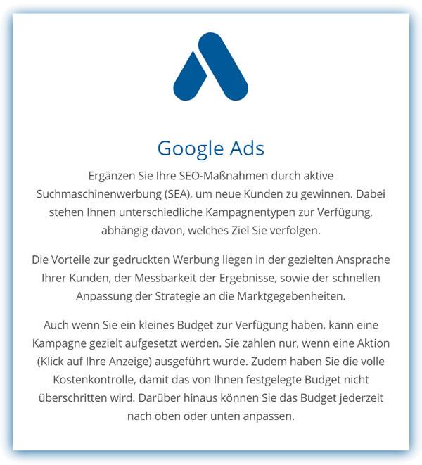 Online Marketing Google Ads SEA in  Bütthard